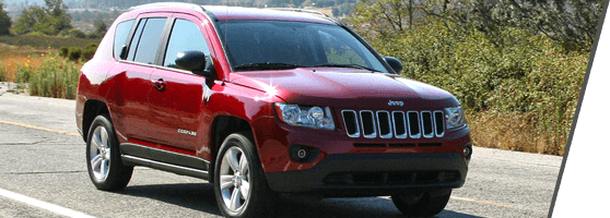 red used Jeep Compass in Vancouver, BC