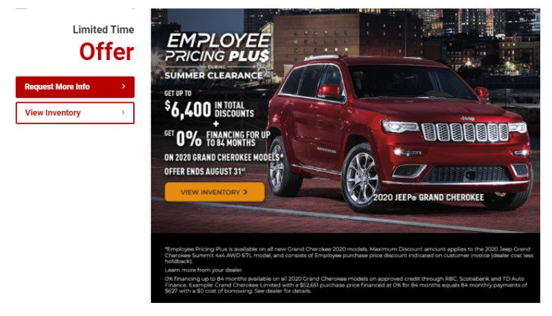 Employee Pricing - Jeep at Richmond Chrysler Vancouver, BC