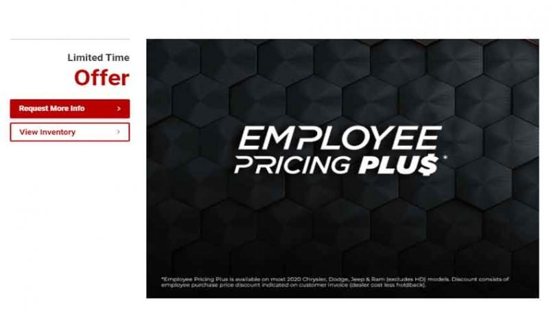 Employee Pricing Promotion
